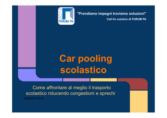 Car pooling scolastico - Forges