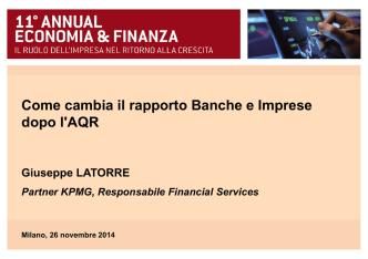 Come cambia il rapporto Banche e Imprese dopo l
