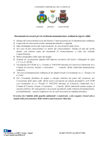 Documenti occorrenti per le autorizzazioni opere edili ordinarie e