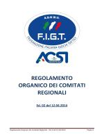 Regolamento Organico dei Comitati Regionali Ed.2 del 12.04