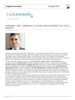 Legal Community - Lombardi Molinari Segni Studio legale