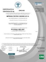 OHS-593 IMPRESA PIETRO CIDONIO S.P.A. CERTIFICATE No