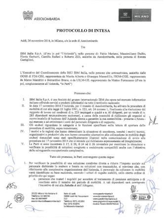 26/11/2014 (Doc.) Protocollo di Intesa