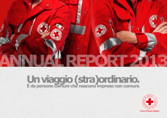 Annual Report 2013 - Croce Rossa Italiana