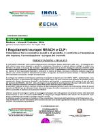 I Regolamenti europei REACH e CLP: