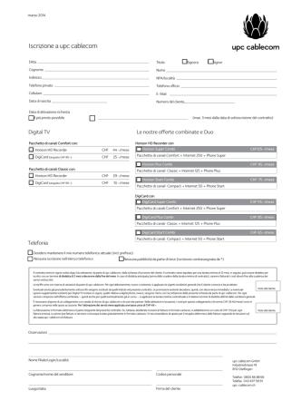 Contratto - UPC Cablecom