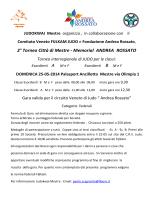 regolamento gara - Home Fondazione Andrea Rossato