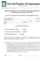 Moduli uniti - Università Popolare di Camponogara