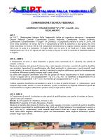 Regolamento Serie A - B - Federazione Italiana Palla Tamburello