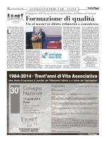 Italia Oggi del 27/03/2014 - Associazione Nazionale Consulenti