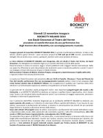 Giovedì 13 novembre inaugura BOOKCITY MILANO 2014 con David