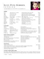 Download Resume - Lucy Fitz Gibbon, soprano