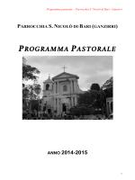 Programma Pastorale Provvisorio 2014-15