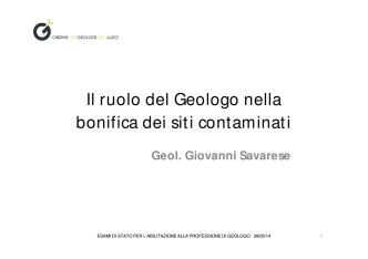 1 - Ordine dei Geologi del Lazio