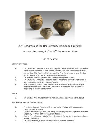29th Congress of the Rei Cretariae Romanae