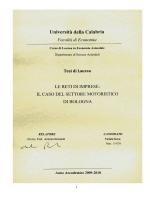 il caso del settore motoristico di Bologna