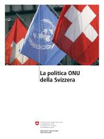 La politica ONU della Svizzera