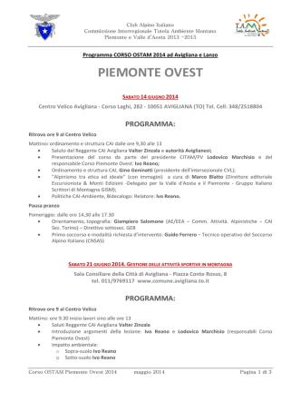 Corso OSTAM Piemonte Ovest 2014 - CAI TAM Piemonte e Valle d