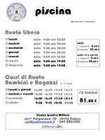 Tariffe dei servizi offerti – Edizione 2014