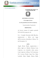 il Consiglio di Stato, in data 11 Dicembre 2014, ha