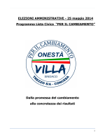 """Lista Civica """"PER IL CAMBIAMENTO"""""""