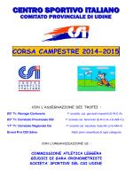 Calendario e regolamento Campestre CSI Udine 2014-2015