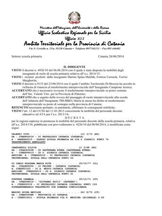 Ambito Territoriale per la Provincia di Catania
