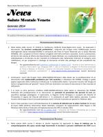 News Salute Mentale Veneto