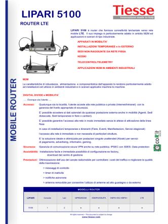 Brochure Modello Lipari 5100
