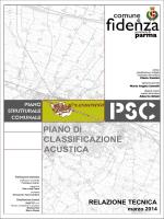 PIANO DI CLASSIFICAZIONE ACUSTICA