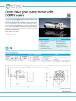 Direct drive gear pump-motor units DGD09 series - Fluid-o-Tech