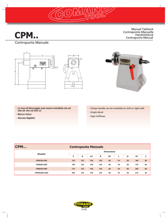 Contropunta Manuale CPM