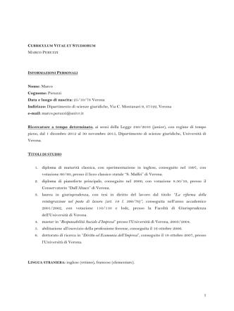 CURRICULUM VITAE (Italiano) (pdf, en, 189 KB, 12/15/14)