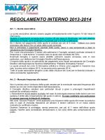 REGOLAMENTO INTERNO 2013-2014 - Palestra Ginnastica Ferrara