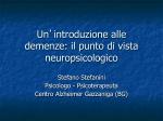 Neuropsicologia delle demenze - Psicoterapeuta
