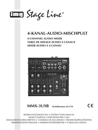 4-KANAL-AUDIO-MISCHPULT