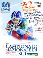 newsletter 16° campionato nazionale di sci