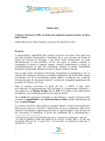 Massarotto S., Voluntary disclosure il DDL sul