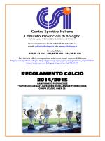 REGOLAMENTO CALCIO 2014/2015