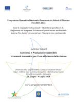 Programma - PON GAS Ambiente