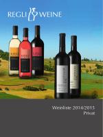 Weinliste 2014/2015 Privat