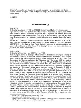 Brunforte - Wandruszka Genealogie