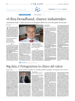 «Ultra-broadband, chance industriale»