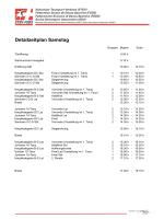 Detailzeitplan Samstag - Schweizer Tanzsport Verband