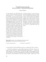 ricerca accademica e alta professionalizzazione