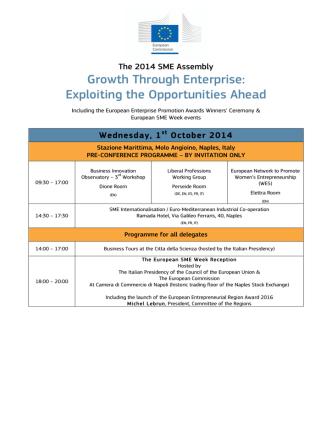 2014 SME Assembly Programme