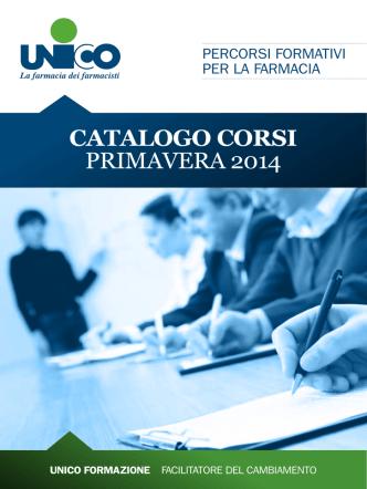 CATALOGO CORSI PRIMAVERA 2014