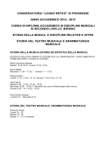 storia della musica moderna e - Conservatorio Licino Refice