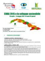 CUBA 2015 e lo sviluppo sostenibile