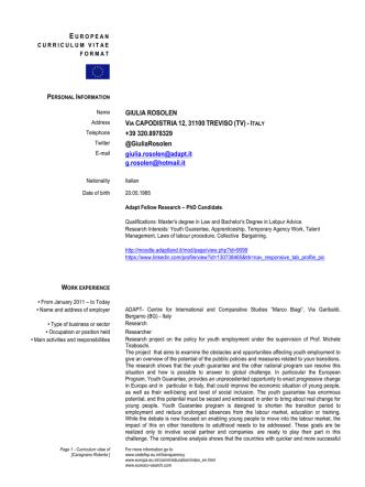 CV inglese (pdf) - Moodle ADAPTLAND